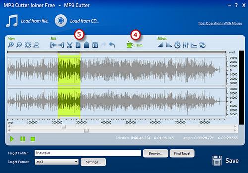 Cut the audio file