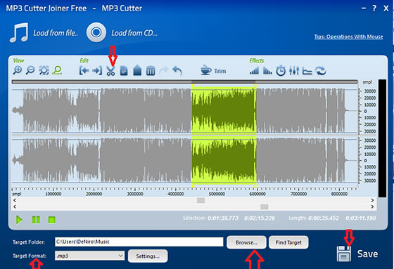 Cut Audio and Save
