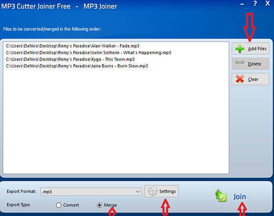Join MP3 Files Using MP3 Cutter Joiner Free